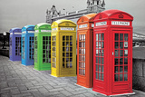 London - Phoneboxes Colour Fotografía