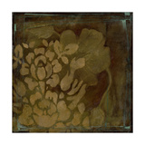 Damask Silhouette I Print by Jennifer Goldberger