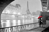 Paris - Eiffel Tower Kiss - Poster