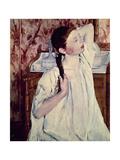 Girl Arranging Her Hair, 1886 Giclee Print by Mary Cassatt