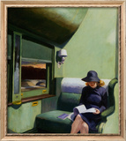 Compartment C, Car 293 Framed Giclee Print by Edward Hopper