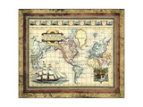 Map of the World Prints by  Vision Studio