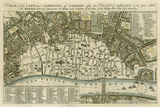 City Plan of London Plakaty