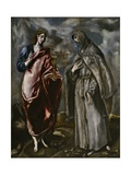 Saint John the Evangelist and Saint Francis of Assisi, C. 1600 Lámina giclée por  El Greco