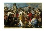 Sacrifice to Bacchus, Ca. 1634 Giclée-tryk af Massimo Stanzione