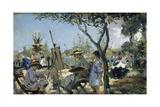 La Familia En El Jardin Giclee Print by Alejandro Ferrant