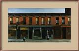 Early Sunday Morning Framed Giclee Print by Edward Hopper