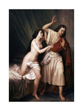 Joseph and Potiphars Wife, 1854 Giclee Print by Antonio Maria Esquivel