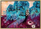 Blue Willow 額入りキャンバスプリント : ナターシャ・ウェスコート