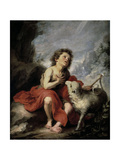 Saint John the Baptist as a Child, 1670-1680 Giclee Print by Bartolome Esteban Murillo