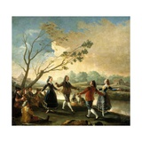 Dance on the Banks of the Manzanares, 1776-1777 Giclee Print by Francisco de Goya