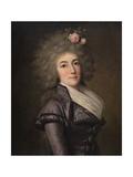 Portrait of Doña Inés María Aguirre Y Yoldi, 1790 Giclee Print by Adolf Ulrik Wertmüller