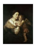 Venus and Love. 17th Century. Paris, Musée Du Louvre Giclee Print by  Rembrandt van Rijn