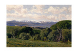 View of the Guadarrama from El Plantío De Infantes, 1910 Giclee Print by Aureliano De Beruete