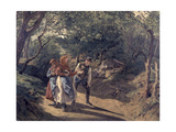 Meeting in the Woods Reproduction procédé giclée par Ferdinand Waldmüller