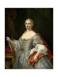 Maria Amalia of Saxony, ca. 1745 Giclee Print by Giuseppe Bonito