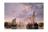 The Maas at Dordrecht, 1680 Giclee Print by Aelbert Cuyp