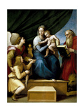 The Holy Family with Raphael, Tobias and Saint Jerome, or the Virgin with a Fish, 1513-1514 Reproduction procédé giclée par  Raphael