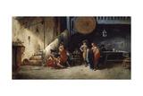 Pepe-Hillo Aprendiendo a Torear, 1889 Giclee Print by Angel Lizcano