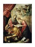 Santa Ana Enseñando a Leer a La Virgen Giclee Print by Juan De Las Roelas