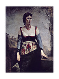 Agostina, 1866 Giclee Print by Jean Baptiste Camille Corot