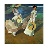 Walk on the Beach, 1909 Reproduction procédé giclée par Joaquin Sorolla