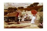 Una Terraza En Biarritz Giclee Print by Jose Villegas