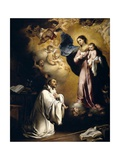 The Virgin Appears to Saint Bernard, Ca. 1655 Giclee Print by Bartolome Esteban Murillo