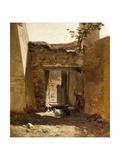 A Corral (Aragon), Ca. 1872 Giclee Print by Carlos de Haes