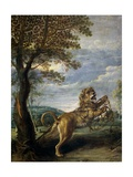 The Fable of the Lion and the Mouse Giclee Print by Frans Snyders