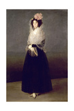 Portrait of the Countess of Carpio, Marquesa De La Solana Giclee Print by Francisco de Goya