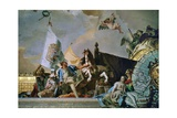 Throne Room: the Glory of Spain, Allegory of Castilia, 1762-1766 Giclee Print by Giovanni Battista Tiepolo