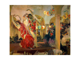 Women Dancing Flamenco at the Café Novedades in Seville, 1914 Giclee Print by Joaquin Sorolla