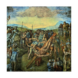 The Crucifixion of Saint Peter Giclee Print by  Michelangelo