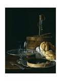 Still Life with Box of Jellied Fruit, Bread, Silver Salver, Glass, and Wine Cooler, 1770 Giclee Print by Luis Egidio Meléndez
