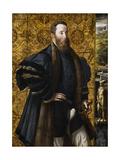 Pedro Maria Rossi, or Roscio, Count of San Segundo, 1535-1538 Gicleetryck av Parmigianino,