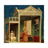 The Annunciation to Saint Anne, 1303-1310 Giclee Print by  Giotto