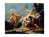 Apollo Chasing Daphne Giclee Print by Giovanni Battista Tiepolo