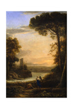 The Archangel Raphael and Tobias, 1639-1640 Giclee Print by Claude Lorrain