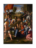 Christ Falls on the Way to Calvary, 1515-1516 Giclee Print by  Raphael