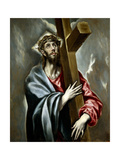 Christ Clasping the Cross, Ca. 1602 Giclee Print by El Greco