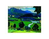 Murnau Blick über den Staffelsee Art by Wassily Kandinsky