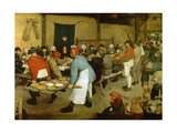 The Peasant Wedding Giclee Print by Pieter Bruegel the Elder