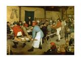The Peasant Wedding Gicléetryck av Pieter Bruegel the Elder