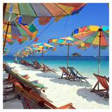 Parasols on a Tropic Isle II Posters