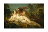 Jupiter and Antiope, 1745-1749 Giclee Print by Jean Baptiste Marie Pierre