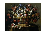 Basket of Flowers, 1668-1670 Giclee Print by Juan De Arellano