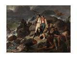 Episodio De Trafalgar, 1862 Giclee Print by Francisco Sans Cabot