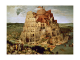 The Tower of Babel Gicleetryck av Pieter Bruegel the Elder