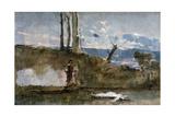 Ophelia, 1860-1871 Giclee Print by Eduardo Rosales